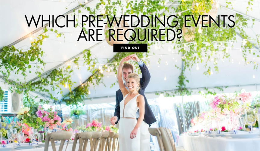 which pre wedding events are required rehearsal dinner bridal shower bachelorette party engagement