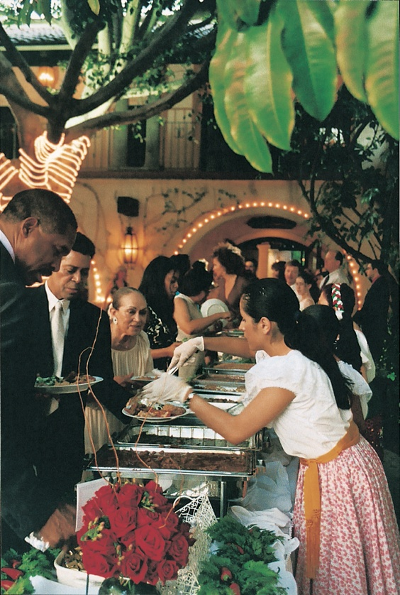 Food & Drink Photos - Mexican Buffet Table - Inside Weddings