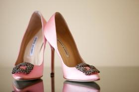 Manolo Blahnik heels with buckle embellishment