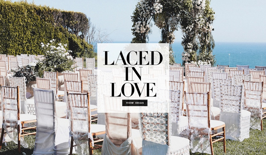Seven ways to use lace in your wedding ceremony or reception decorations