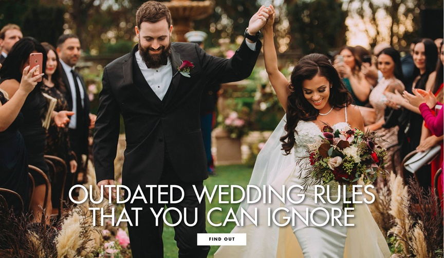 Outdated wedding rules that you can ignore and don't have to follow