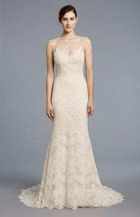 Anne Barge Spring 2018 bridal collection Kennedy wedding dress lace chiffon sheath gown