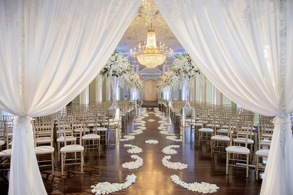 White Silver Gold Wedding At The Biltmore Ballrooms In Atlanta