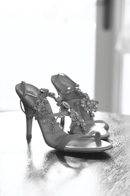 Black and white photo of Giuseppe Zanotti heels