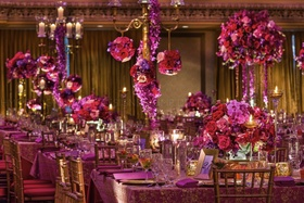 Rich jewel tones and gold accents set a romantic tone.