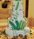Nature-inspired wedding confection with petals