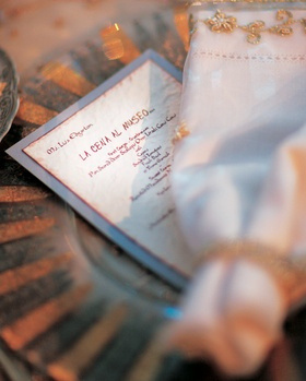 Medieval Times-inspired wedding reception menus