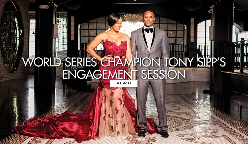 World Series champion Tony Sipp's engagement session Kasey Angulo sexy engagement shoot e-session