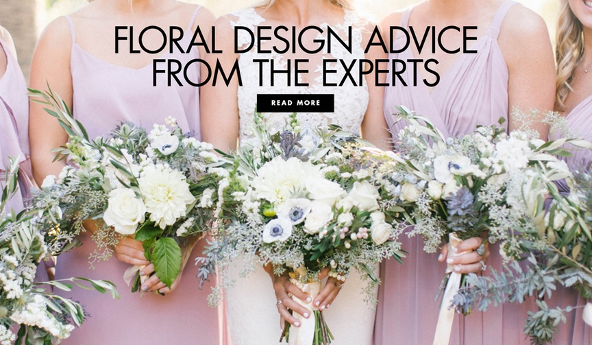 Wedding flowers floral design advice tips from wedding professionals experts
