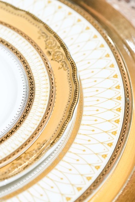 gold details china plates