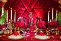 Beauty and the Beast enchanted rose between gold candelabras
