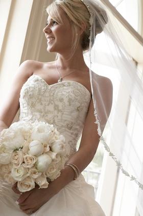 Reggie Arvizu's bride on wedding day