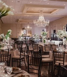 country club wedding with contemporary decor, modern wedding reception