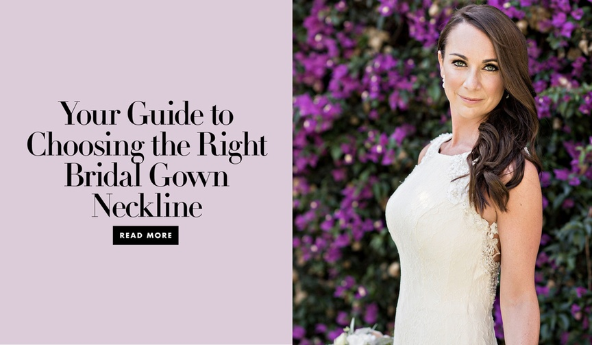 How to choose the right bridal gown neckline for your body type and personal style