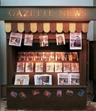 New York City inspired gazette news stand