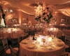 Classic wedding reception color palette ballroom decorations