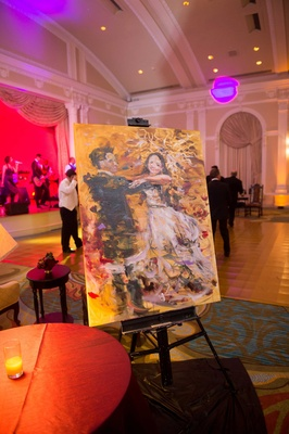 live painting couple dancing reception florida jewish renaissance wedding still life art