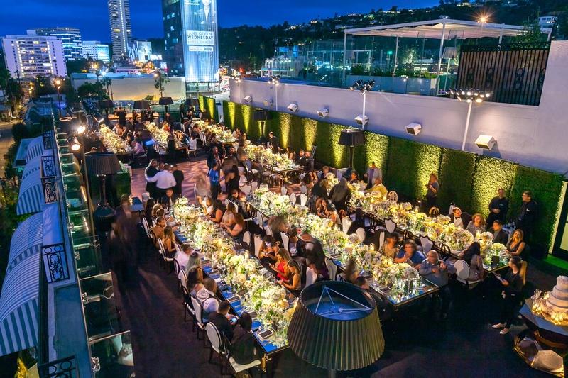 Beautiful Outdoor Wedding Ceremony At Tribeca Rooftop: Rooftop Reception Venue In Los