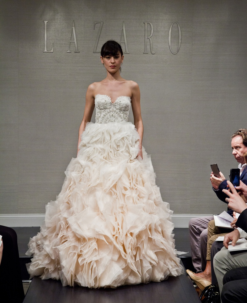 Wedding Dresses Photos - Ombré Gown by Lazaro - Inside Weddings
