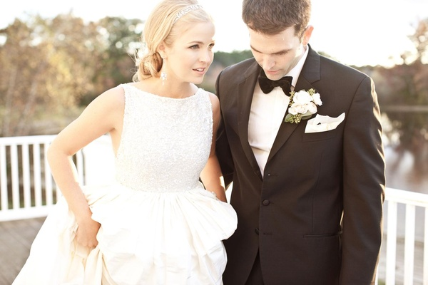 Keri Lynn Pratt wedding dress with sparkle bodice