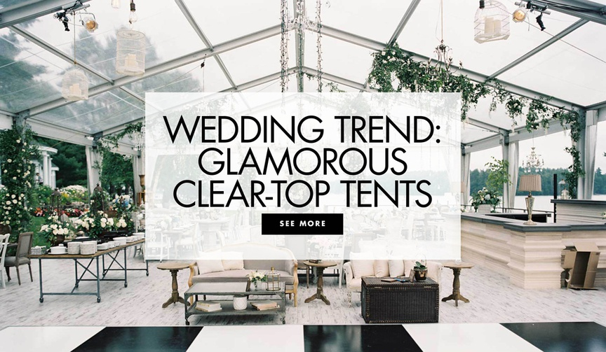 clear-top reception tents, wedding reception tent inspiration