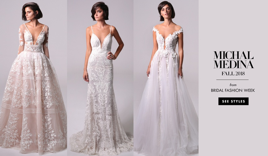 Michal Medina Fall 2018 bridal collection Modern Love