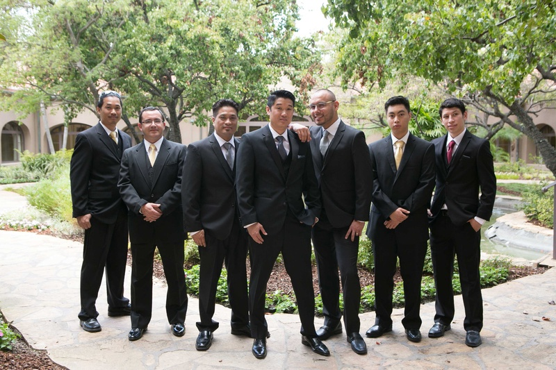 Grooms & Groomsmen Photos - Groom, Groomsmen, Differing Tie Colors ...