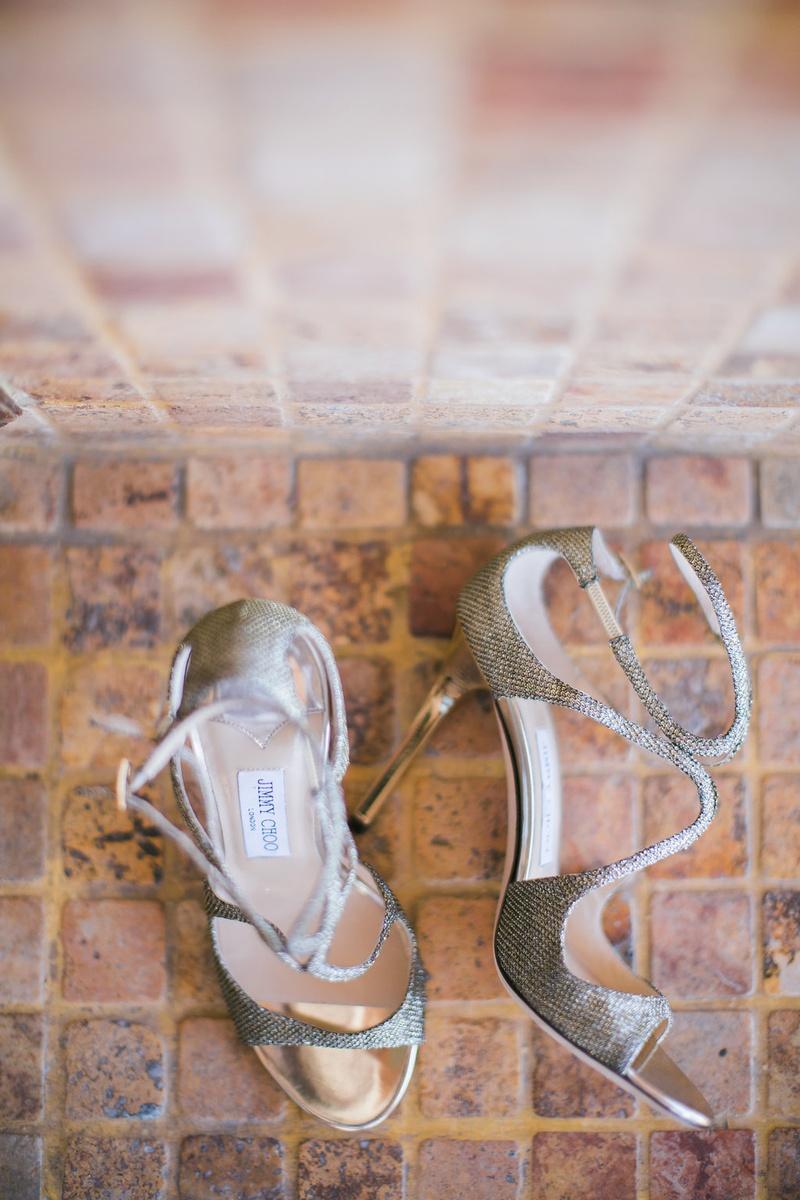 jimmy choo open toe metallic silver bridal heels