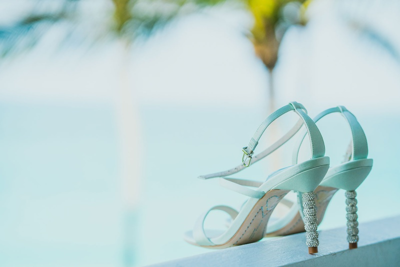 stuart weitzman white bridal shoes with crystal detailed heels