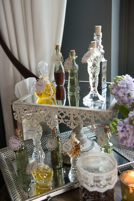 custom perfumes mirrored display new york city bridal shower favors vintage