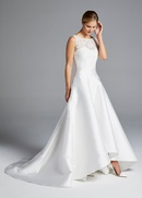 Anne Barge Spring 2019 collection sweetheart mikado high low a line gown
