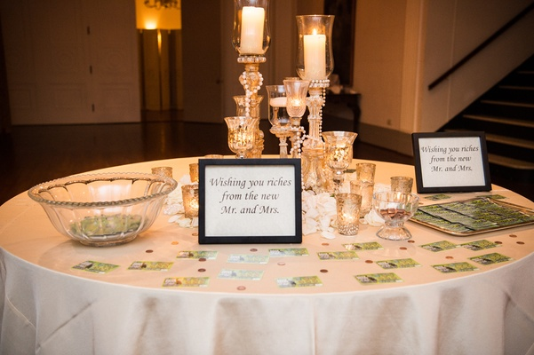 lottery scratcher tickets as wedding favors