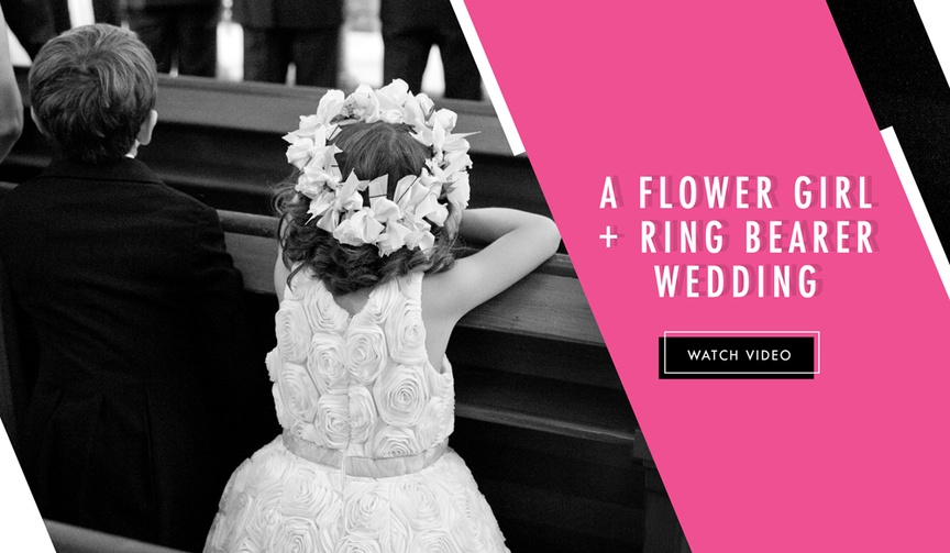 Flower girl and ring bearer get married