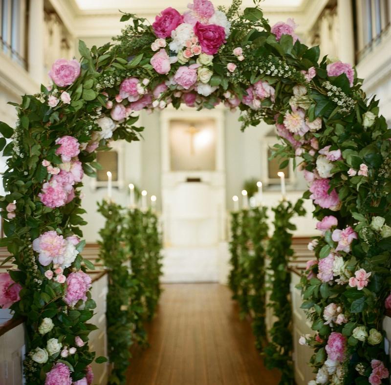 Church Wedding Arch Decorations: Ceremony Décor Photos