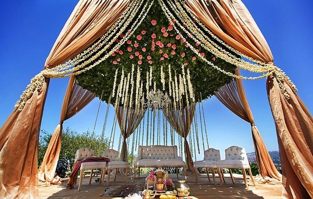 Indian Wedding at Ritz Carlton with Events by Nutan and Bloombox Florals
