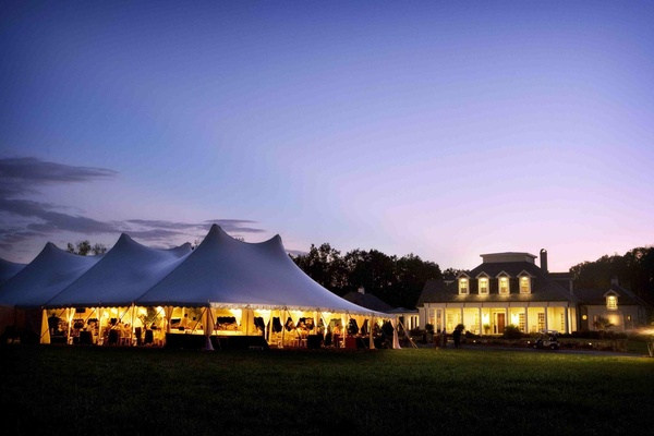 Tented reception at a private residence