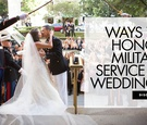 ways to honor military service at weddings
