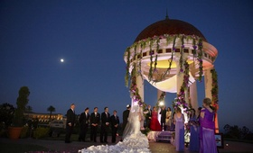 Resort at Pelican Hill gazebo night Jewish ceremony