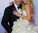 Joanna Krupa and Romain Zago at Miami wedding