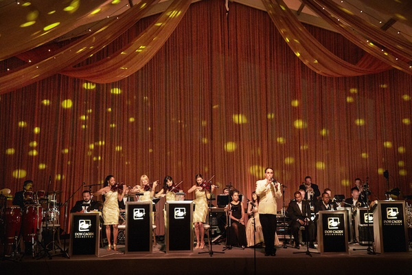 Don Cagen Orchestra band on stage at luxury wedding reception