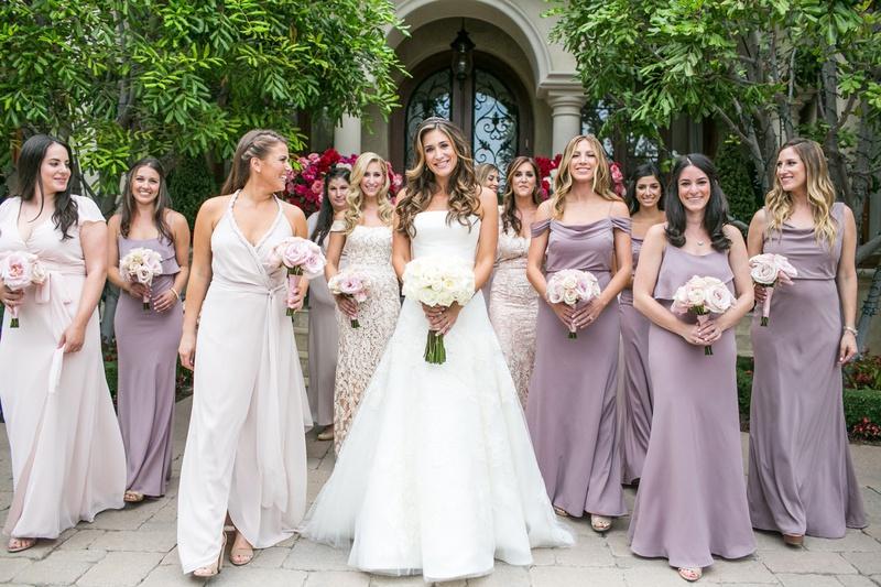 Brides Bridesmaids Photos Bridesmaids In Lavender Champagne