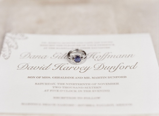 Wedding ring sapphire center stone engagement ring platinum white gold setting on gold white invite