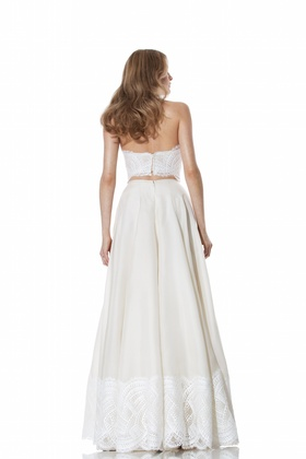 Lace bodice and bottom skirt by Olia Zavozina Spring 2016