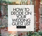 how to decide on your wedding guest list