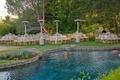 Jeff Bridges' family pool and backyard