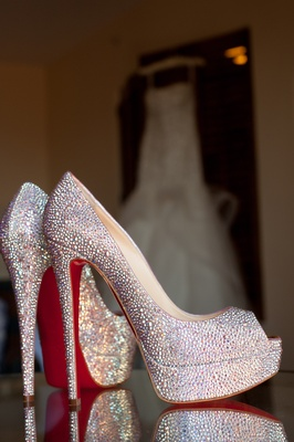 Wedding shoes Christian Louboutin red soles