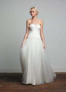 Joy Collection Barbara Kavchok Ashling wedding dress tulle strapless a line gown