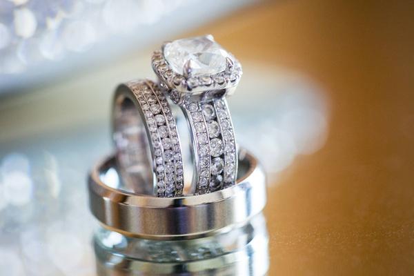 Amena Jefferson and Brandon Mebane's wedding rings
