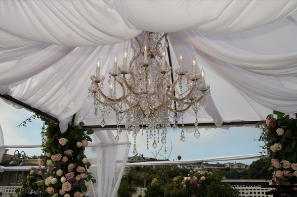 Jewish marriage ceremony chuppah décor