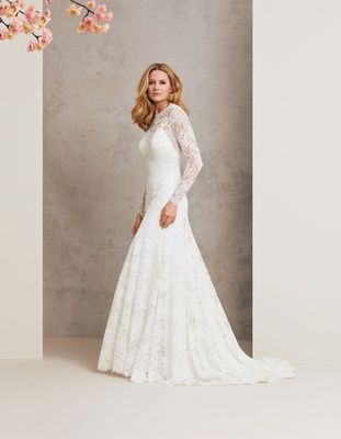 Caroline Castigliano 2018 bridal collection wedding dress Falling in Love long sleeve lace gown